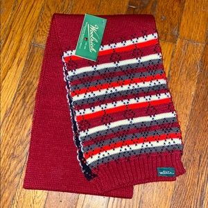 Woolrich sweater scarf winter red grey black new